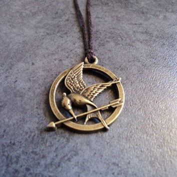 Hunger Games Mocking Jay Charm Necklace