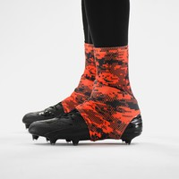 Digital Ultra Camo Orange-Red and Black Spats / Cleat Covers