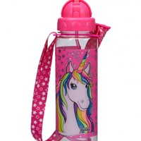 Unicorn Water Bottle with Strap