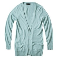 Mossimo® Petites Long-Sleeve V-Neck Boyfriend Cardigan Sweater - Assorted Colors