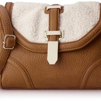 Aldo Valgoglio Cross Body Handbag,Tan/Bone,One Size