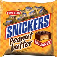 Snickers Fun Size Peanut Butter Squared Bars, 21.50 Ounce