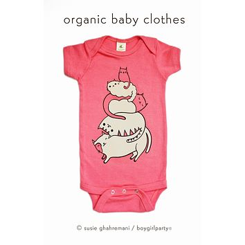 Cute Cat Baby Onesuit — Cat Baby Clothes — Organic Baby Onesuit