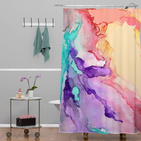 DENY Designs Rosie Brown Color My World Woven Polyesterr Shower Curtain