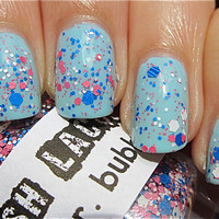 Mr Bubble   CustomBlended Glitter Nail Polish / by lushlacquer