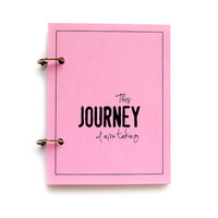 Pink Travel Journal or Vacation Journal, Scrapbook, Diary for Spring Break - Journey in Spring Meadow Pink