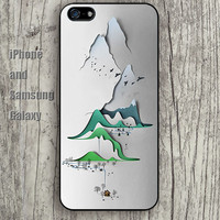 Abstract off the mountain colorful iphone 6 6 plus iPhone 5 5S 5C case Samsung S3,S4,S5 case Ipod Silicone plastic Phone cover Waterproof A0740