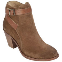 H BY HUDSON WOMEN'S LEWKNOR SUEDE/LEATHER HEELED ANKLE BOOTS - TAN
