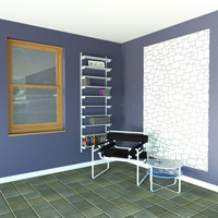 """24"""" Wide Single Bay Wall Mounted Shelves with Standards and Brackets"""
