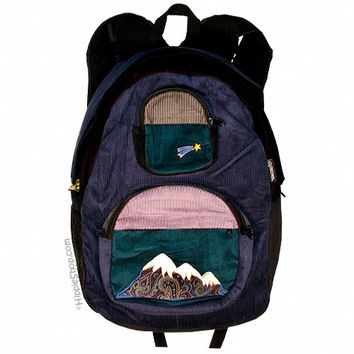 Big Mountain Patchwork Corduroy Backpack on Sale for $49.95 at HippieShop.com