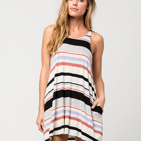 FULL TILT High Neck Striped Swing Dress | Short Dresses