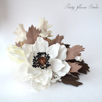 Anemone Brooch, Hair Clip, Flowers, Gift, Accessory, Wedding, Special Occasion, Handmade