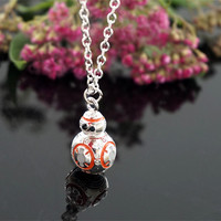 BB8 Necklace Latest Movie Star Wars Jewelry Robot BB8 Mini Model Fashion Pendant European Style Necklace For Fans