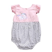 Newborn Baby Girls Clothes Bodysuit Jumpsuit Sleeveless Cotton Cute Summer Playsuit Outfit Clothing Baby Girl
