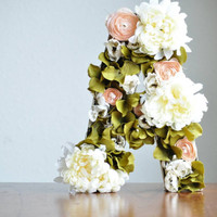 Floral Letter Decoration Customized for Nursery Decor, Home Decor, and Office Decor - 24 inches