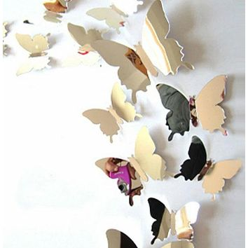 Fashion Casual 3D Butterfly Wall Decor 12pcs