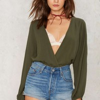 Lauryn Plunging Top - Green