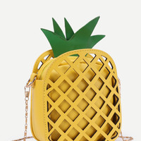 Pineapple Shaped PU Chain Crossbody Bag