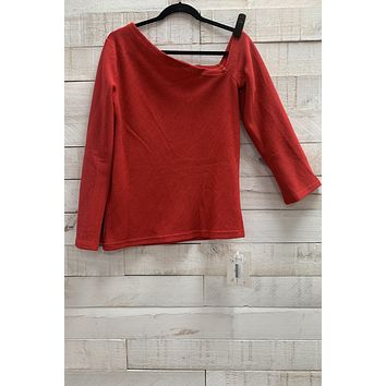 Bell Sleeve Blouse- Red