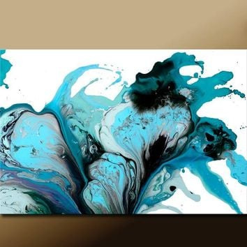 Abstract Art Print Contemporary Canvas Wrapped Print by Destiny Womack , Pure Emotion- dWo