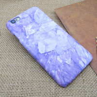 Purple Marble Stone iPhone x 7 8 6s Plus Case Cover + Nice Gift Box 275