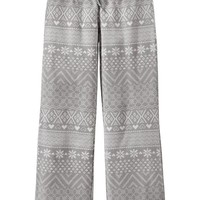 Girls Patterned Performance Fleece Sleep Pants