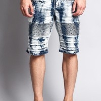Acid Washed Biker Shorts