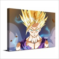 Dragon Ball Z Saiyan canvas wall art single panel print  poster wall picture Fra