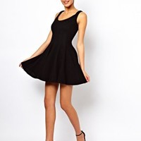 ASOS Structured Dress In Rib