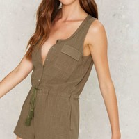 Thinkin Bout Utility Romper