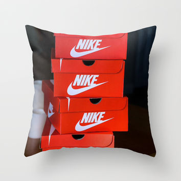 Nike Throw Pillow by I Love Decor
