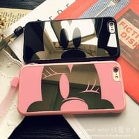 Stylish Iphone 6/6s Cute On Sale Hot Deal Iphone Apple Couple Soft Mirror Phone Case [8790239495]