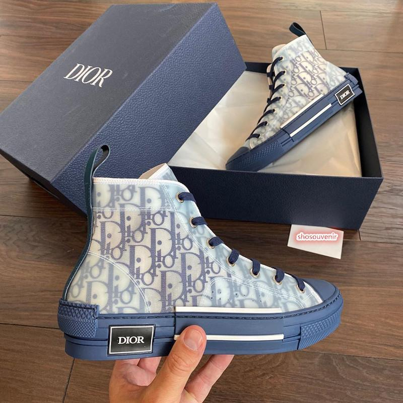 Image of Dior Translucent film splicing high top shoes