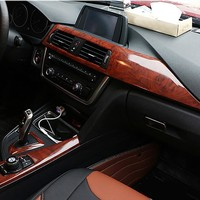 Imitation Wood Grain Protection Vinyl Film Scratch Car-styling Stickers And Decals Central Control Panel Interior Trim 30x100cm