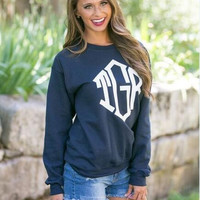 Letters Printed Pullover Sweater 13224