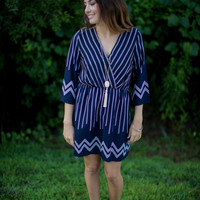 3/4 Bell Sleeve Printed Dress