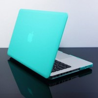 """TopCase Shocking Hot Blue 13 """" 13.3 """" inch Ultra Slim Light Weight Rubberized Hard Case Cover for Macbook PRO 13.3"""" (A1278/with or without Thunderbolt) - NOT for retina display- with TopCase Mouse Pad"""