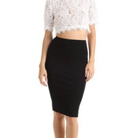 LACE SHORT SLEEVE CROP TOP - WHITE