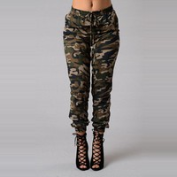 Women Army Jeans 2016 Spring Autumn Camouflage Jeans Denim Pant Loose Trousers Plus Size High Waist Jeans Camisa Feminina QZ1138
