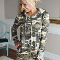 Long Casual Simple Pullover Hoodie Sweatshirt Blouse Shirt  _ 9171