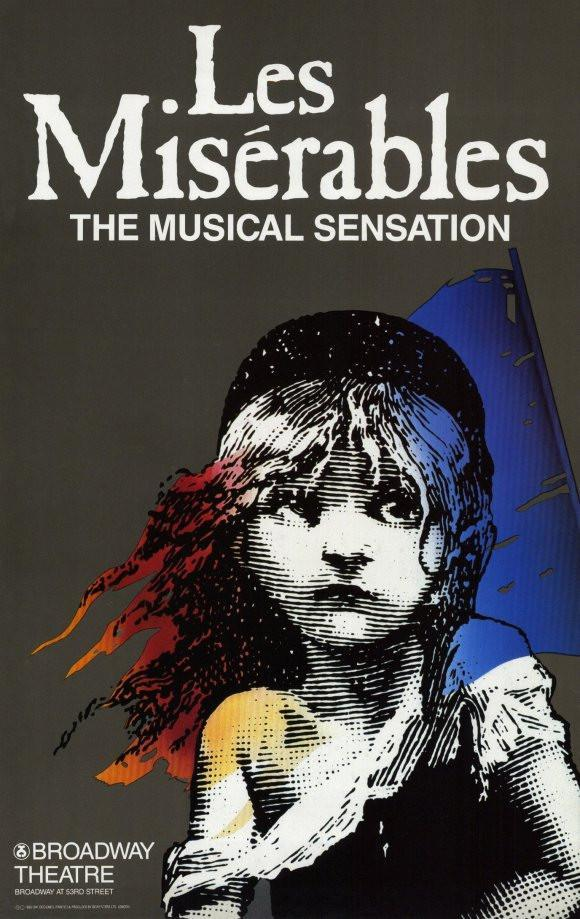 Image of Les Miserables 11x17 Broadway Show Poster (1987)