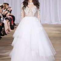 Ines Di Santo 'Aliora' Embroidered Illusion & Tulle Ballgown (In Stores Only)   Nordstrom