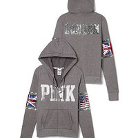 Limited Edition London Full-Zip Hoodie - PINK - Victoria's Secret