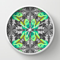 T. Rex Ice Pattern Wall Clock by chobopop