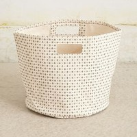Cross-Dot Canvas Basket by Pehr