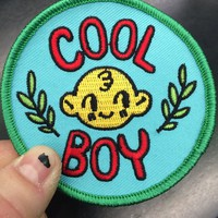 Embroidered Patch: Cool Boy by Benji Nate