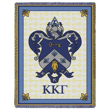 Kappa Kappa Gamma Crest Throw Blanket