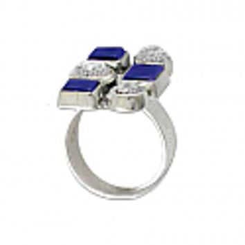 Sterling Silver, Lapis Lazuli and Nacar Ring