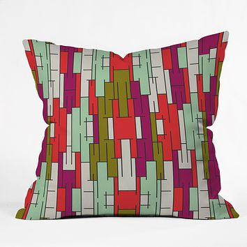 Holli Zollinger Abstract City Throw Pillow