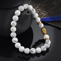 Hot White Buddhist Buddha Meditation Beads Bracelets For Women Statement Jewelry Prayer Beads Mala Bracelet